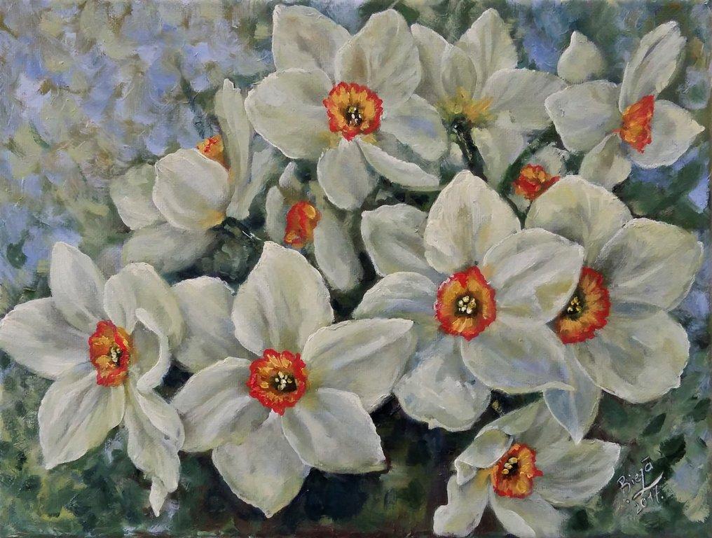 "Glezna ""Pavasaris smaržo narcisēs"""