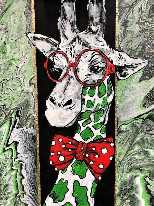 """Glezna """"Profesors Žirafe"""""""