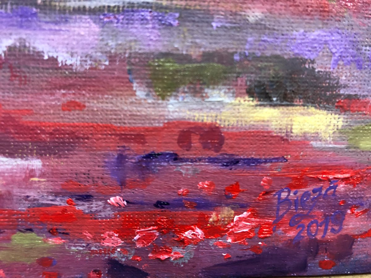 """Glezna """"Magones purpura naktī"""""""