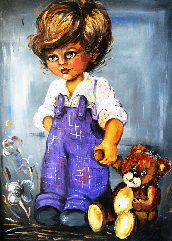 "Glezna ""Bērnība"" puisēns"