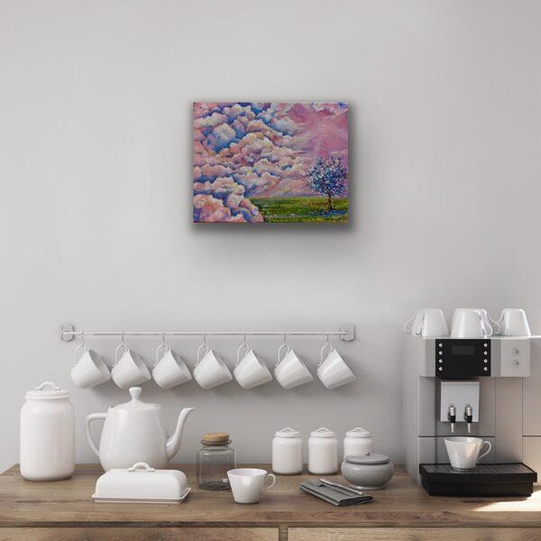"""Glezna """"Rozā rīts"""""""