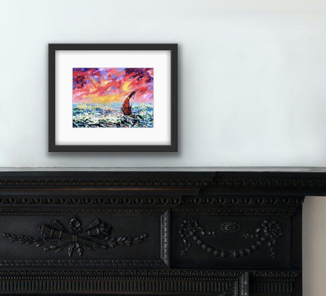 """Glezna """"Sārtais jūras ceļš"""""""