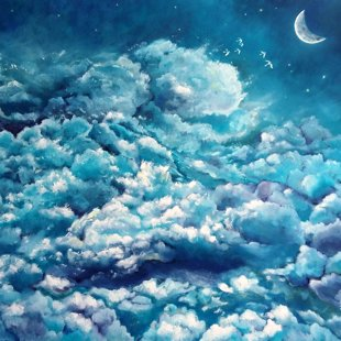 Sky's see - oil painting on canvas, 90*70 cm. EUR 560